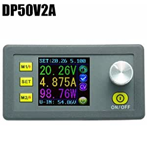 DP50V2A Adjustable DC Power Supply Module with Integrated Voltmeter Ammeter Color Display - COLORMIX