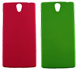 FCS Rubberised Hard Back Case For Oppo Find 5 Mini In Matte Finish-Combo Of 2
