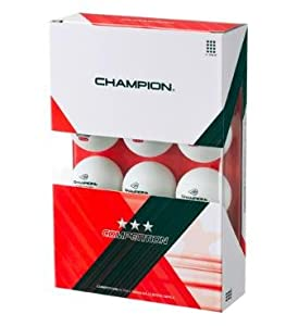 Buy Champion Competition Three Star Table Tennis Balls White (Box of 12 Balls) by Champion TT