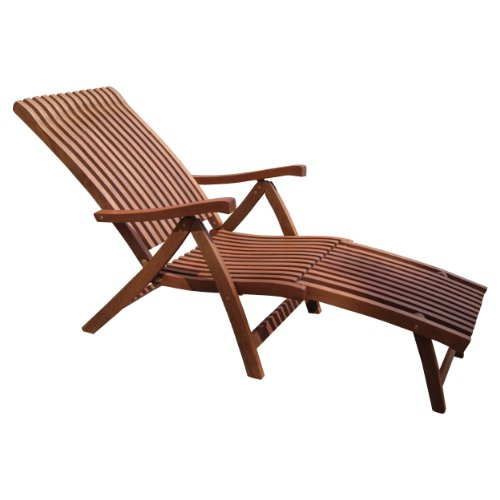 Chaise lounge outdoor outdoor interiors vc7080 eucalyptus for Chaise interiors