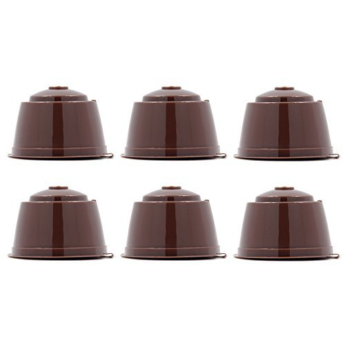 6 cups/pack Refillable Dolce Gusto Coffee Capsule Refilling more than200 times Reusable dolce gusto coffee capsule