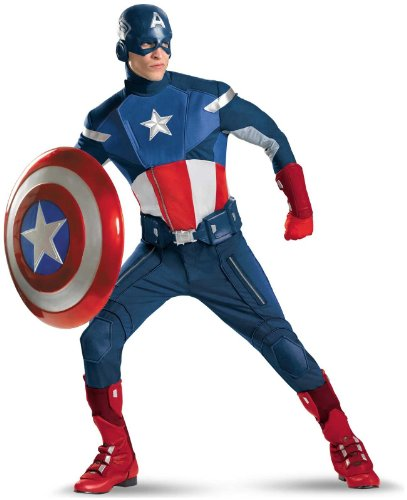 Disguise Inc - The Avengers Captain America Elite Adult Plus Costume