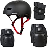 Shaun White Supply Co. Helmet And 3 Pads Combo - Black