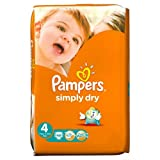 Pampers Simply Dry Nappies Size 4 Large Pack 46 per pack Case of 1