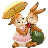 Goebel Porzellan-Hasenpaar mit Schirm, Frühlingsregen, 66841701