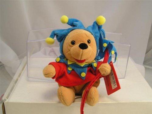 "Retired Disney Winnie the Pooh Court Jester 8"" Plush Bean Bag Doll"