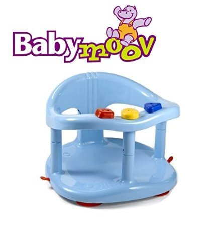 babymoov baby bath seat ring bathtub tub plastic non toxix blue color 7 16 months max. Black Bedroom Furniture Sets. Home Design Ideas