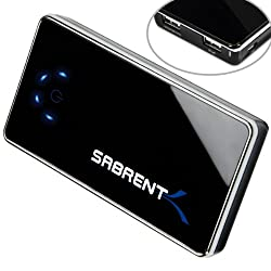 Sabrent 6100mAh High Capacity External Backup Battery Charger Power Bank Charger with Dual USB Port (PB-BCBG)