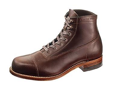 Wolverine 1000 Mile Men's Rockford Cap Toe Boots,Brown,7 D