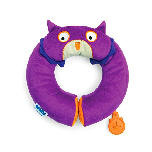 Buy Cheap Trunki Yondi Owl Travel Pillow, Purple, Small