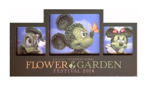 Disney Magnet - Epcot International Flower & Garden Festival 2014 - Mickey, Minnie, And Donald front-258781