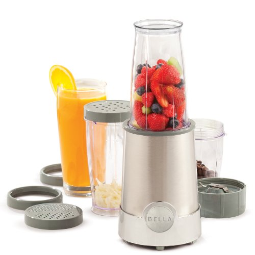 BELLA 13330 12-Piece Rocket Blender, Stainless Steel
