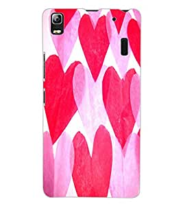ColourCraft Love Hearts Design Back Case Cover for LENOVO K3 NOTE