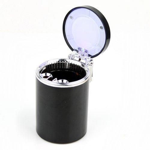 Portable Car Led Light Cigarette Ashtray Holder Black
