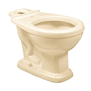 American Standard 3093.013.021 Antiquity/Repertoire Round Front Toilet Bowl, Bone (Bowl Only)