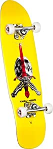 Powell-Peralta Mini Skull and Sword 4 Complete Skateboard, 8.0-Inch, Green from Skate One Corp.
