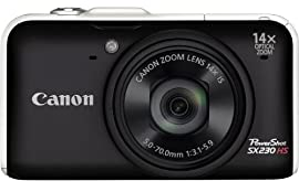 Canon PowerShot SX230HS 12 MP Digital Camera (Black)