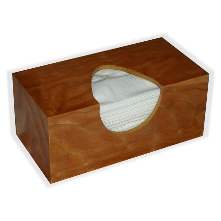 Wooden Tissuecover American Cherry Figure Veneer Rectangular Regular Size (Puffs Opening Without Bottom) (Cherry Shaped Air Freshener compare prices)