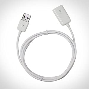 USB Extension Cable (3.5ft Long) - Doubles the Length- Male To Female Cable for iPhone or iPod Cable or Ideal for Any Device That Uses USB- Charges and Syncs Fast Speeds Using - XTG Technology