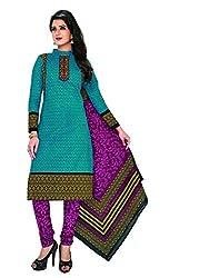 Komal arts EthnicwearWomen's Dress Material(KOMALSPL6026_Blue_Free Size)