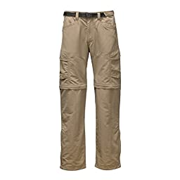 The North Face Men\'s Paramount Peak II Convertible Pant Dune Beige Pants LG X 30