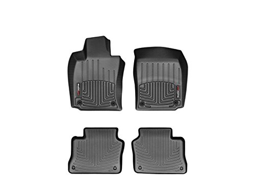 2010-2015 Porsche Panamera (Standard Wheel Base) Weathertech Black Floor Liners - Full Set (Weathertech Panamera compare prices)