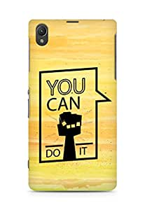 Amez You can Do It! Back Cover For Sony Xperia Z1 C6902