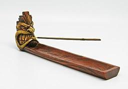 Angry Tiki Face Incense Burner - 10.25\