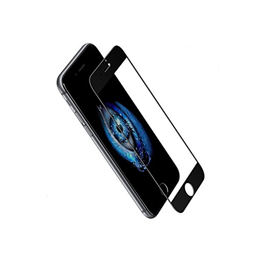 iPhone 7 Screen Protector Tempered Glass Membrane 3D Curved Soft Carbon Fiber Full-Screen iPhone7 Protective Film (iPhone7/Black)