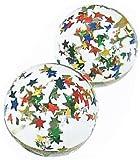 スーパーボール キラキラスター (32mm) 100個入  / お楽しみグッズ(紙風船)付きセット