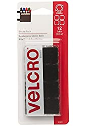 VEK90072 - Velcro Sticky-Back Hook and Loop Square Fasteners on Strips