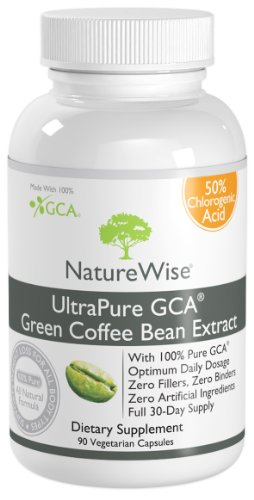 NatureWise UltraPure GCA Green Coffee Bean Extract Made With 100% Pure GCA, 90 Veggie Caps