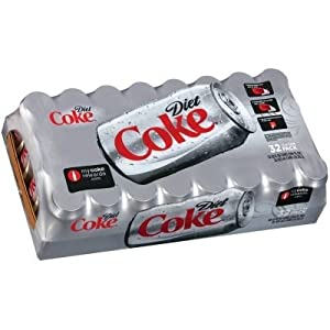 Coca Cola-Diet Coke, The Most Popular Sugar-Free Soft Drink, 12 Oz. (Pack Of 32)
