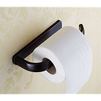 ELLO&ALLO Oil Rubbed Bronze Toilet Paper Holder Bathroom Accessories Wall-Mounted , Rust Protection