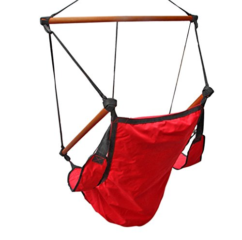 Flexzion hanging rope hammock chair red air deluxe sky for Ez hang chairs instructions