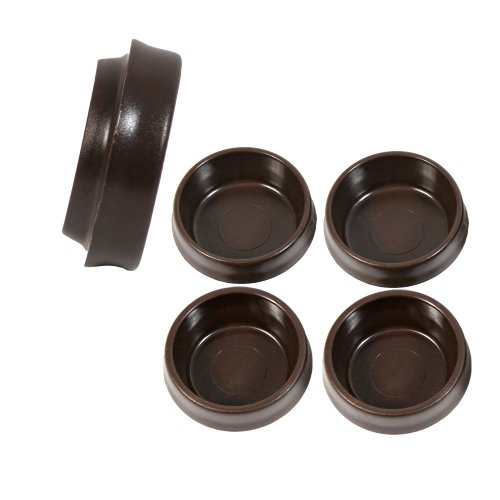 BAM009 - 4 x 45mm Brown Castor Cups