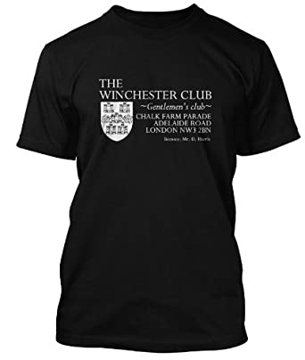 Minder inspired Winchester Club T-shirt, Small, Black, Mens