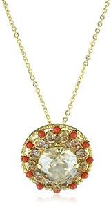 "Sorrelli "" Andalusia"" Light Colorado Aurora Borealis Pendant Necklace"