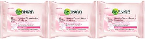 Garnier - Detergenti - Salviettine micellari - Toilette viso Competenza - Set di 3