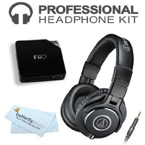 Audio-Technica ATH-M40x Professional Monitor Headphones ( earphone ) (New 2014 Model) with E6 FiiO Headphone ( Earphone ) Amplifier (ATH-M40X, Black) [parallel import goods]