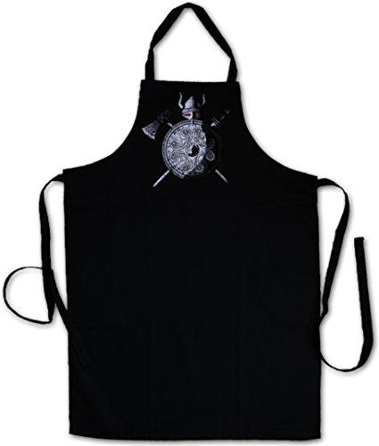 VIKING WARRIOR GREMBIULE BBQ GREMBIULI DA CUCINA GRIGLIA - Viking Ragnarök norvegese Scandinave Loki Sword Shield Celtic Triskel Thor Odin