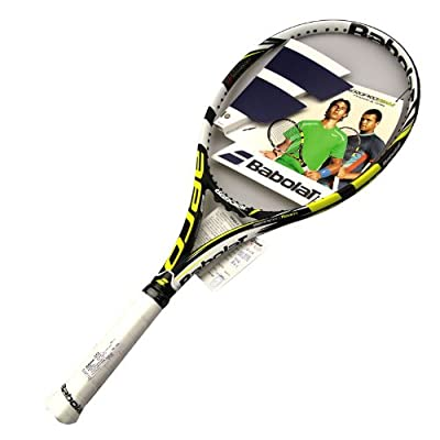 Babolat 101176-142 Aeropro Team GT Unstrung Tennis Racquet, 4 3/8 (Black/Yellow)