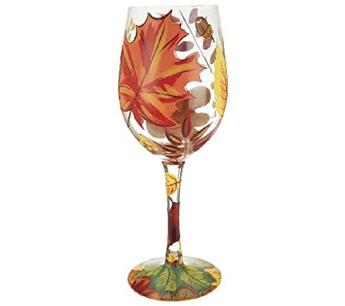 Lolita Autumn Leaves Wine Glass for Halloween