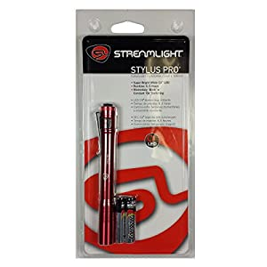 Streamlight 66120 Red Stylus Pro Flashlight Pen Light with White LED