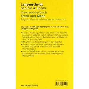 Langenscheidt Praxiswörterbuch Textil und Mode: Englisch-Deutsch-Französisch-Italienisch (Langensc