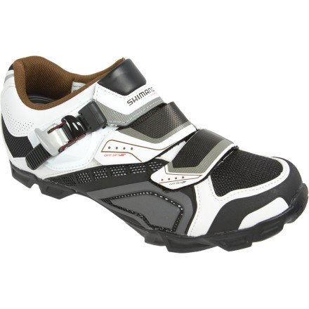 Shimano 2013 Men's Mountain Bike Shoe - SH-M162 (White/Black - 44)