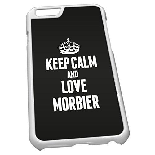 Weiß Schutzhülle für iPhone 61291schwarz Keep Calm und Love morbier (Jura)