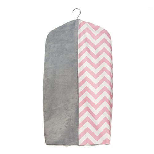 Sweet Potato Swizzle Diaper Stacker, Pink/Grey/White