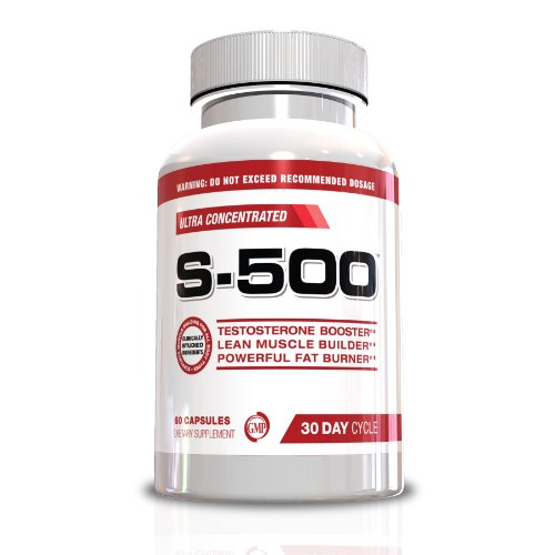 S-500 Testosterone Booster for Men Testosterone Booster Fat Burner for Men-S-500 Ultra Concentrated Muscle Builder and Weight Loss Supplement, 60 Capsules, 30 Day Cycle, Limited Edition (Fathers Day Gifts)