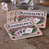 Personalized Pub Coaster Set - Poker Room